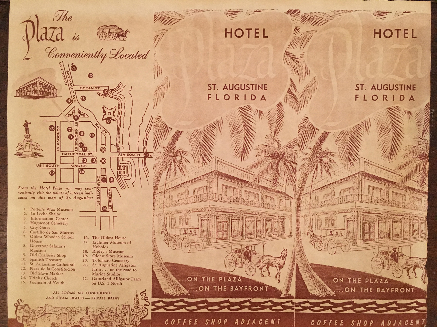 st augustine plaza hotel map