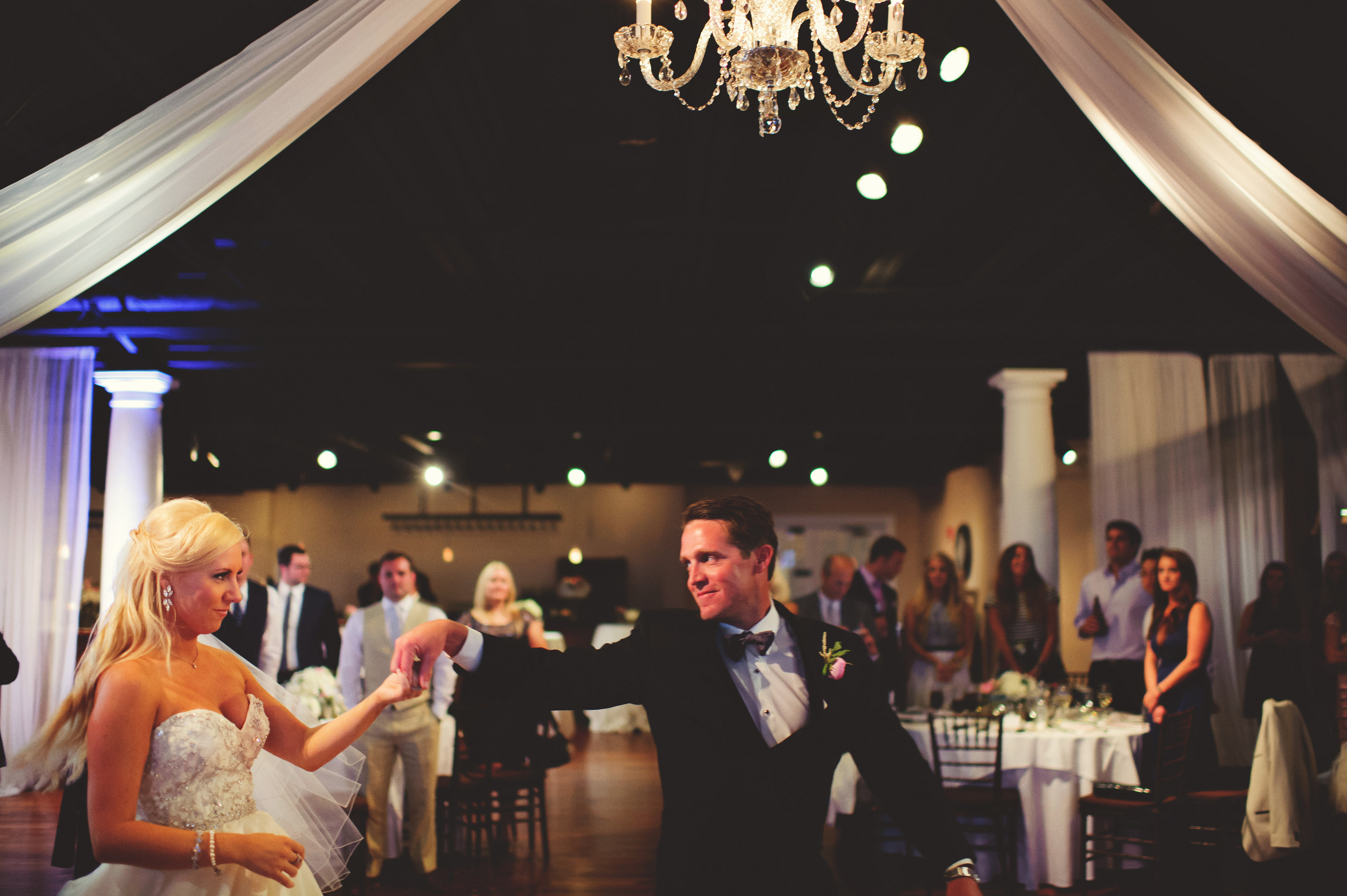 Abbott First Dance w chandelier 10