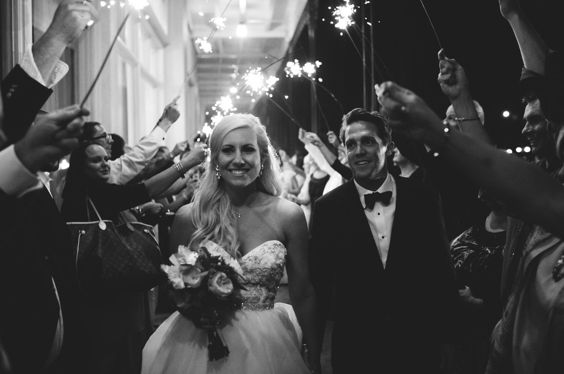 Sparkler Exit! What a beautiful couple!