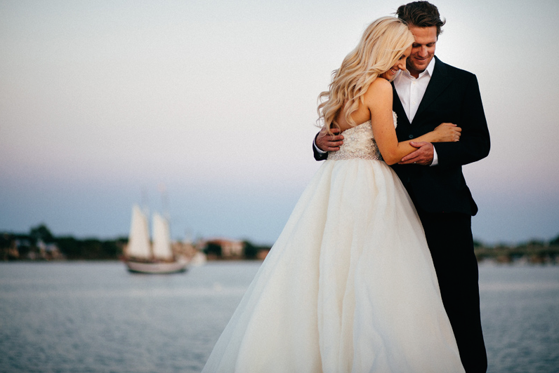The Waterfront is a perfect backdrop for photos.  We love this one!