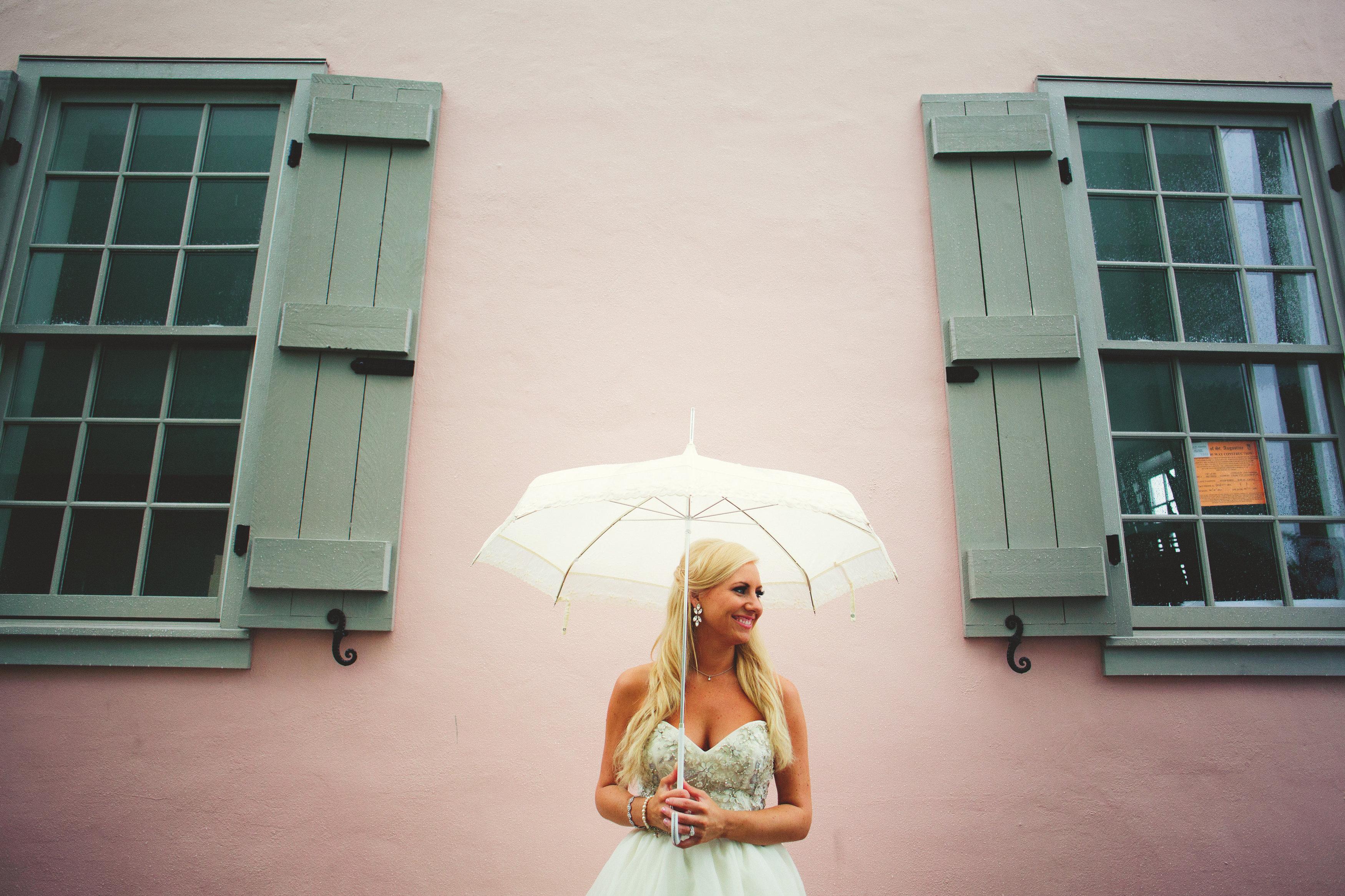 Umbrella infront of Villa 2