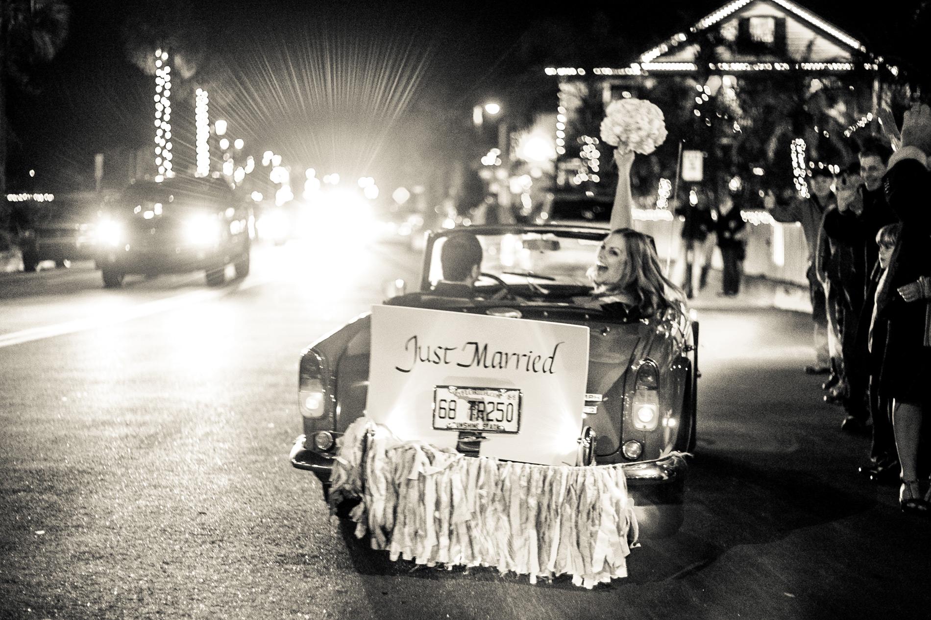 St-Augustine-Wedding-Venues-White-Room-Wedding-getaway-car