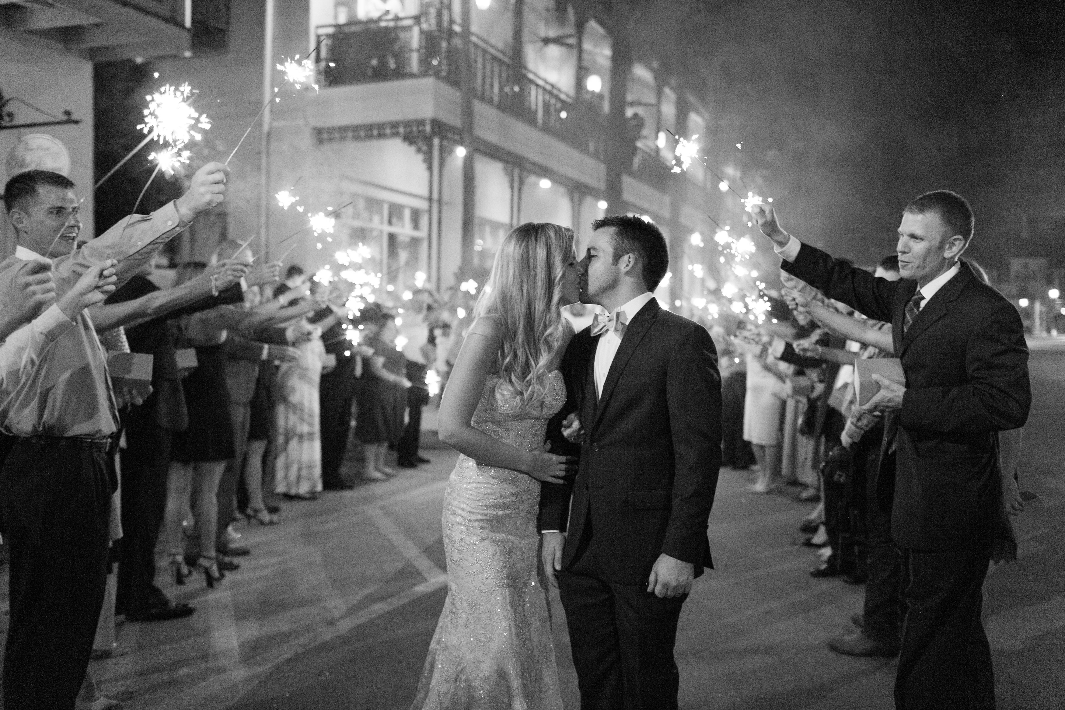 Romantic Sparkler exit perfectly captured by Alex Michele Photography!