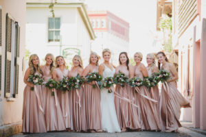 st-augustine-florida-white-room-bridesmaids-bride-blush-outdoor-photography