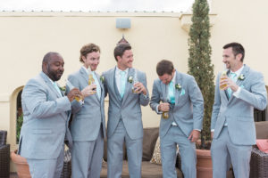white-room-rooftop-wedding-groomsmen-st-augustine