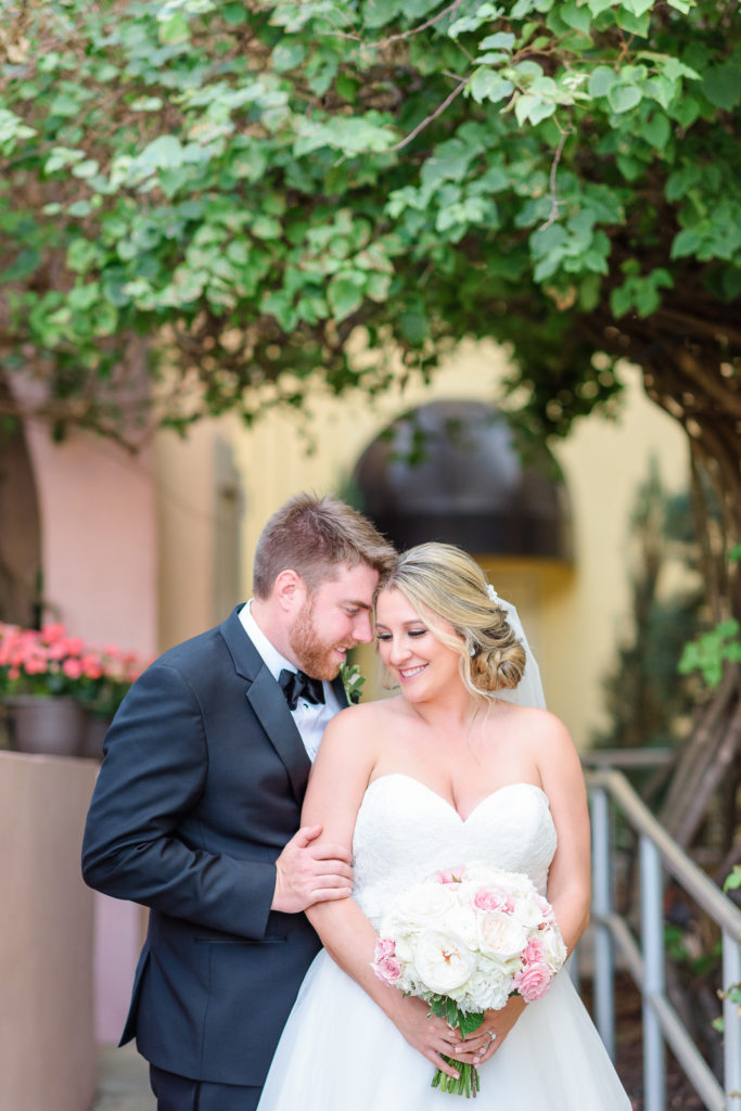 St Augustine Wedding Venues Bride and Groom outside Villa Blanca