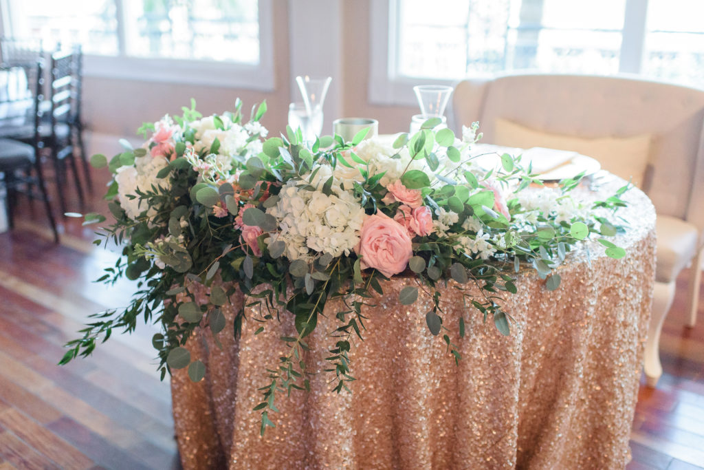 St Augustine Wedding Venues Floral Sweetheart Table