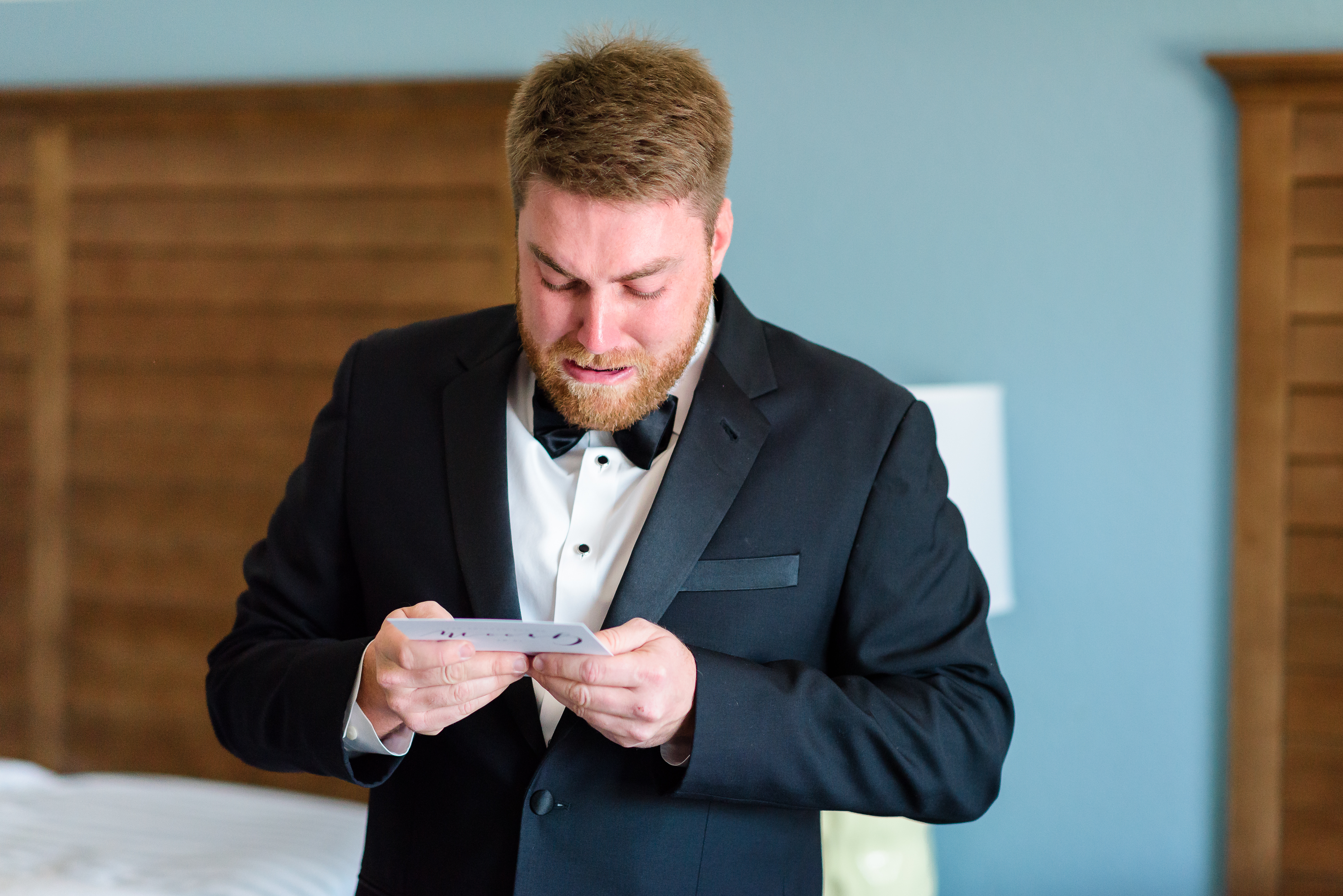St Augustine Wedding Venue Emotional Groom