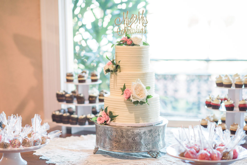 St Augustine Wedding Venues Floral Wedding Cake