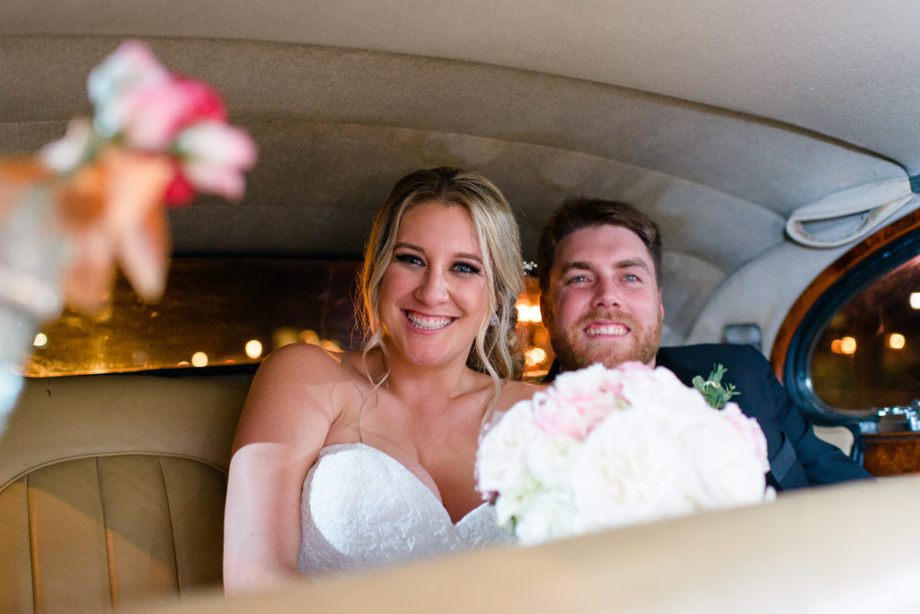 St Augustine Wedding Venues Bride and Groom Getaway Car
