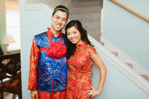 St. Augustine Wedding Traditional Dress Smile