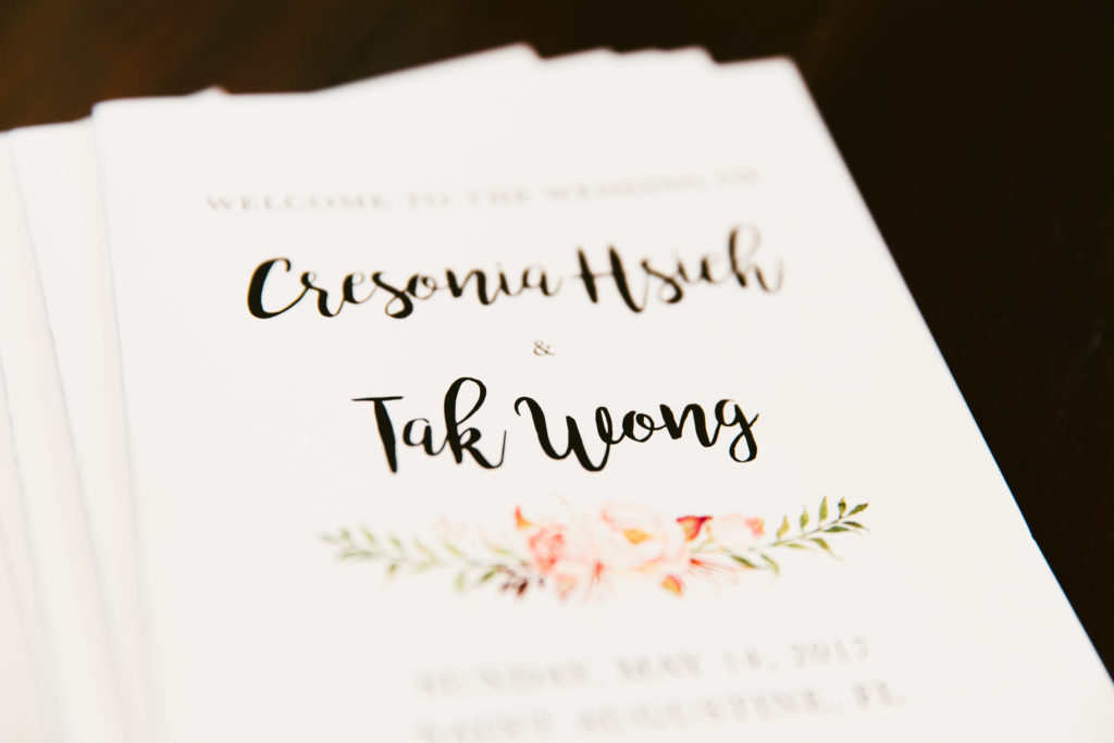 St. Augustine Wedding Bride and Groom Invitation