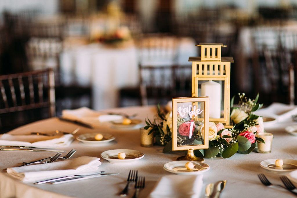 St. Augustine Wedding Gold Centerpieces