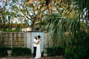 St. Augustine Rooftop Wedding Couple Portrait 2