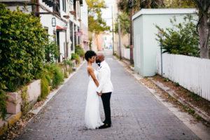 St. Augustine Rooftop Wedding Couple Portrait 3