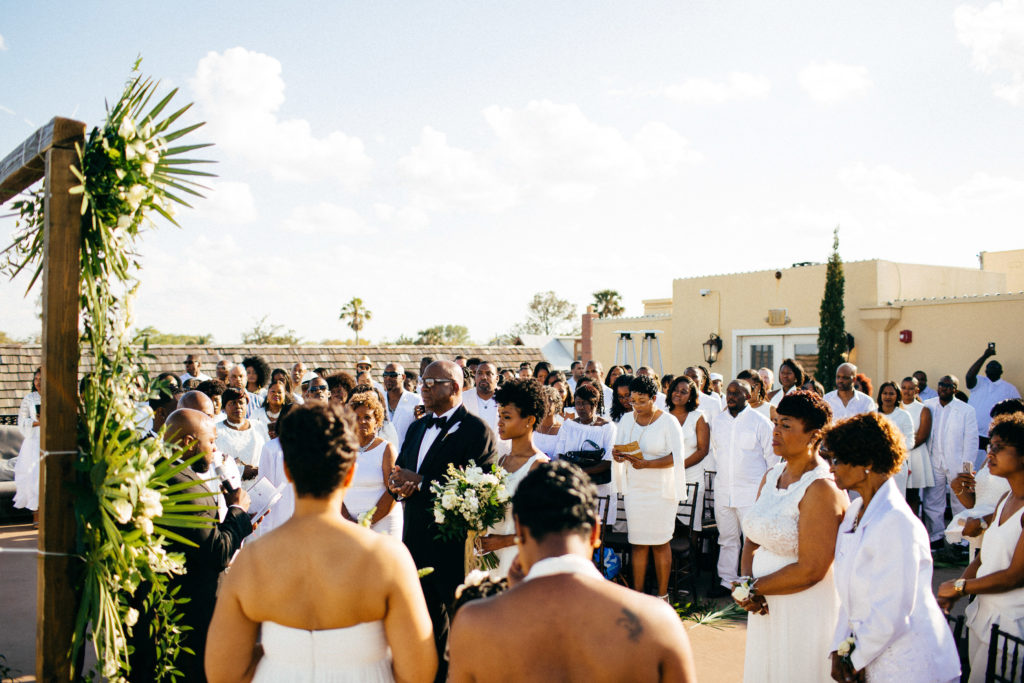 St. Augustine Rooftop Wedding Ceremony 1