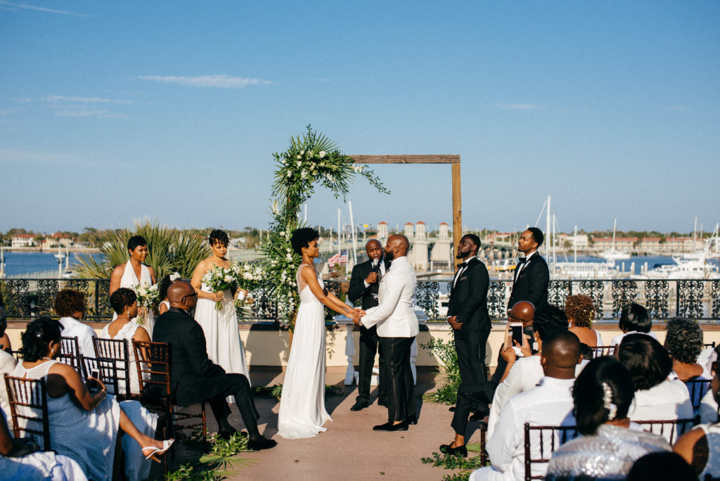 St. Augustine Rooftop Wedding Ceremony 2