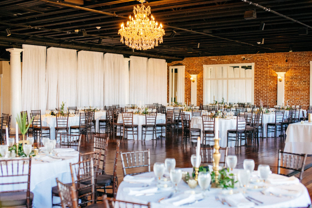 St. Augustine Rooftop Wedding Ballroom Reception 1