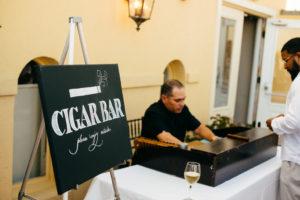 St. Augustine Rooftop Wedding Cocktail Hour Cigar Bar