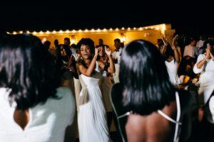 St. Augustine Rooftop Wedding Reception Dancing