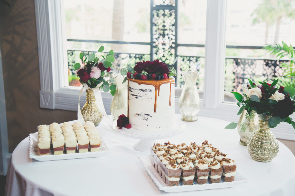 St. Augustine Wedding Cake in Ballroom