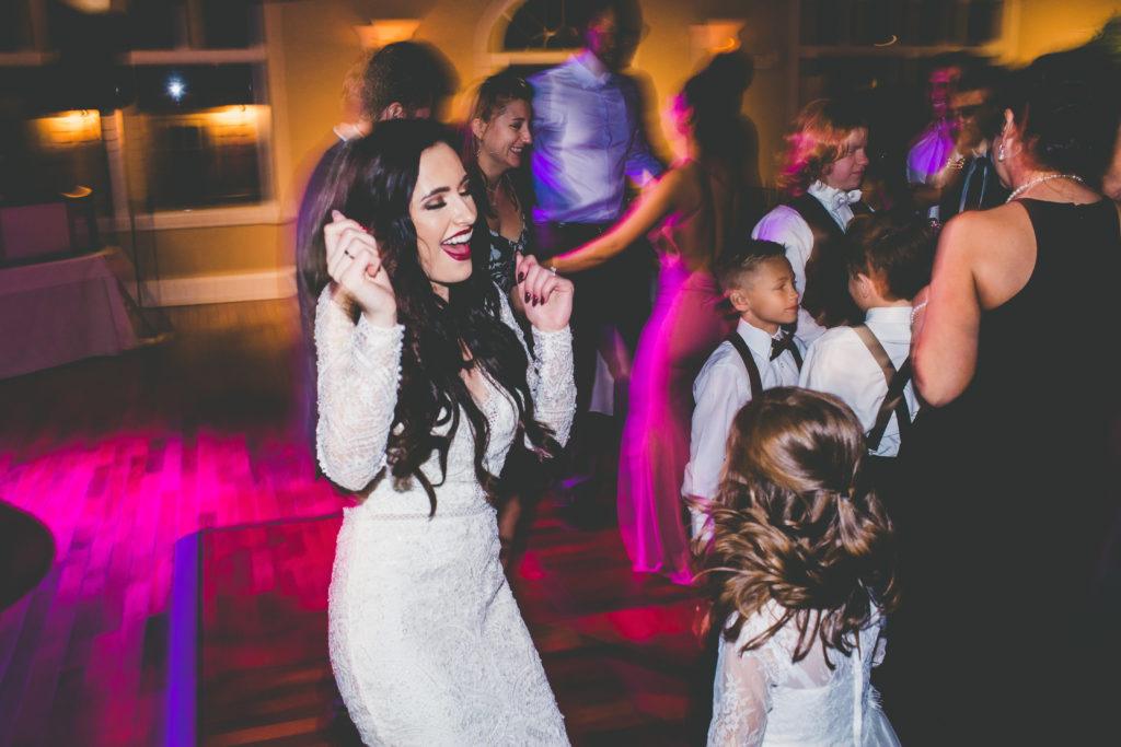 St. Augustine Wedding Reception Bride Dancing