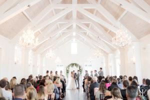 St Augustine Florida Wedding Ceremony Villa Blanca Wide Shot