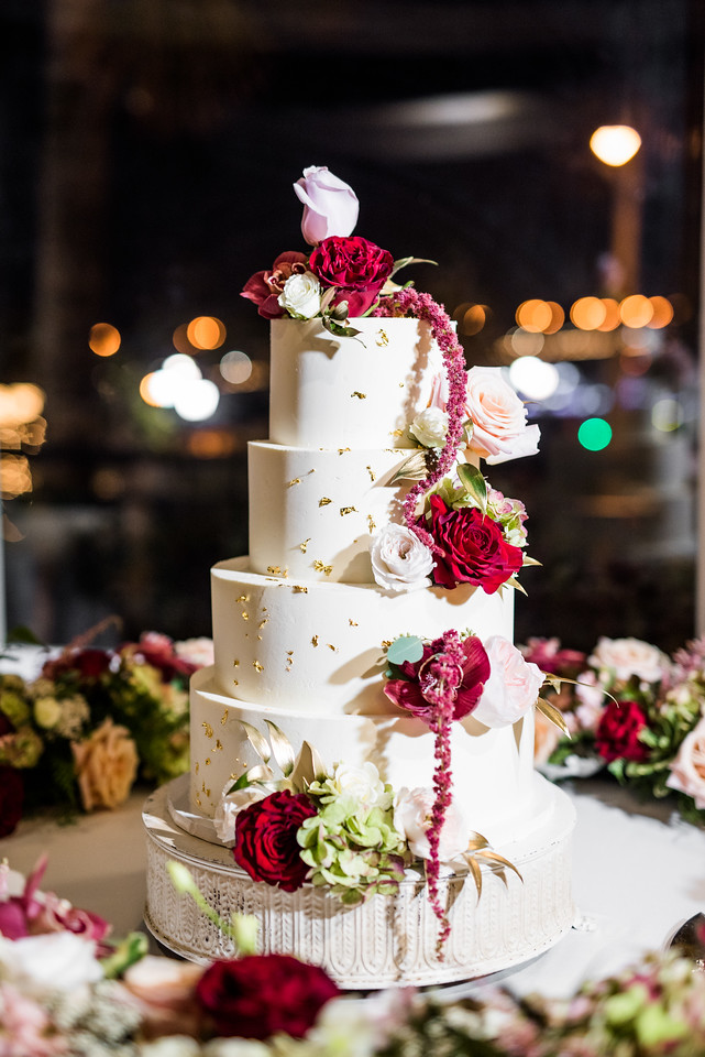 St. Augustine Winter Wedding Ballroom Cake