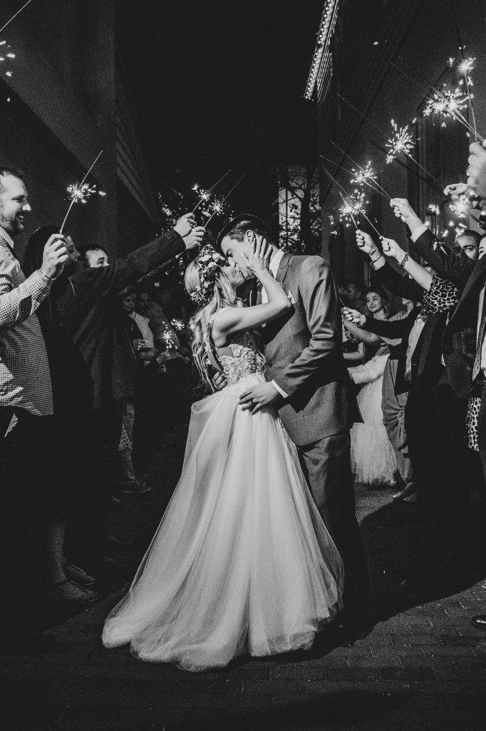 wedding sparkler grand exit