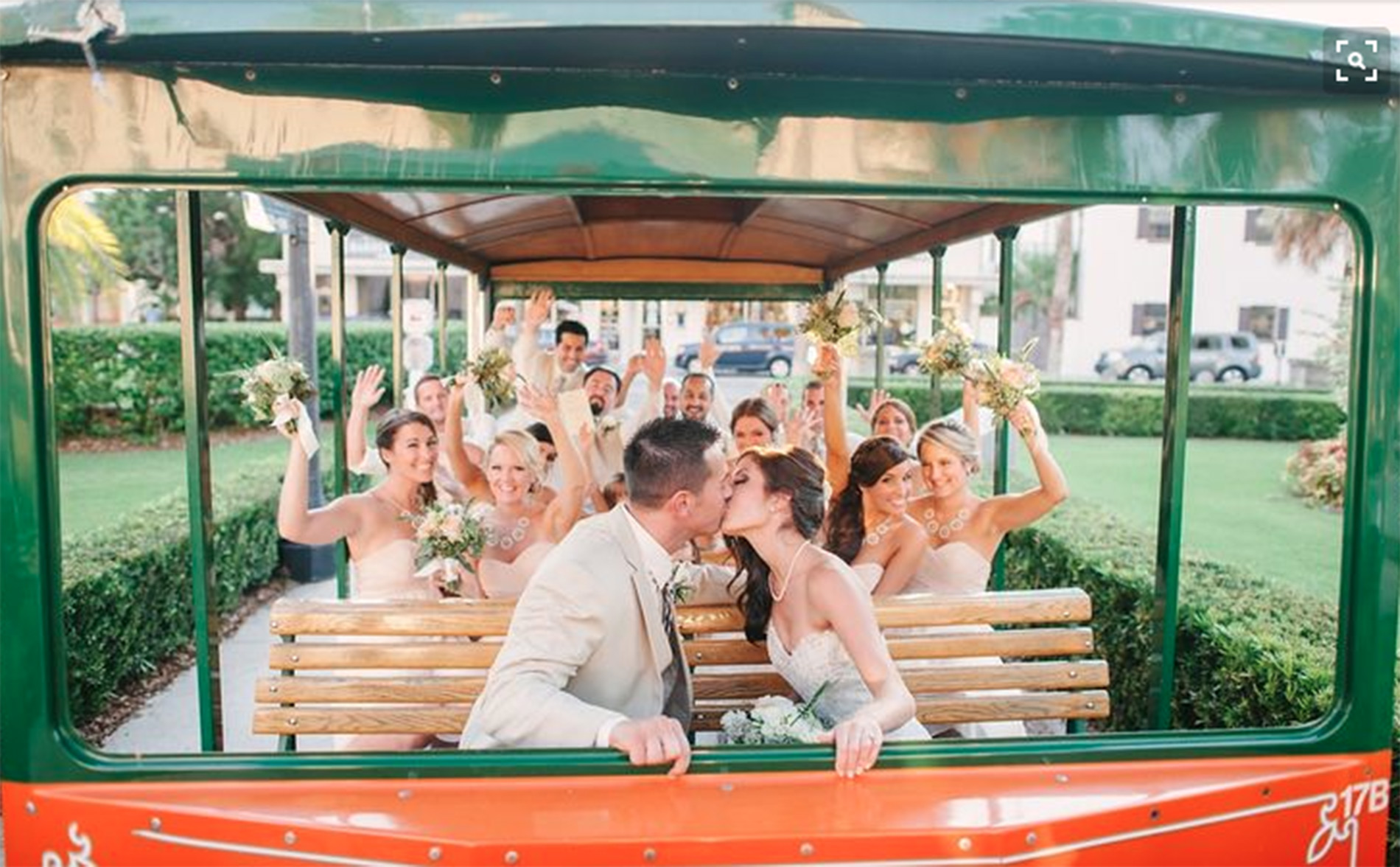 St-Augustine-Wedding-Venues-White-Room-Ballroom-Wedding-Historic-Downtown-trolley