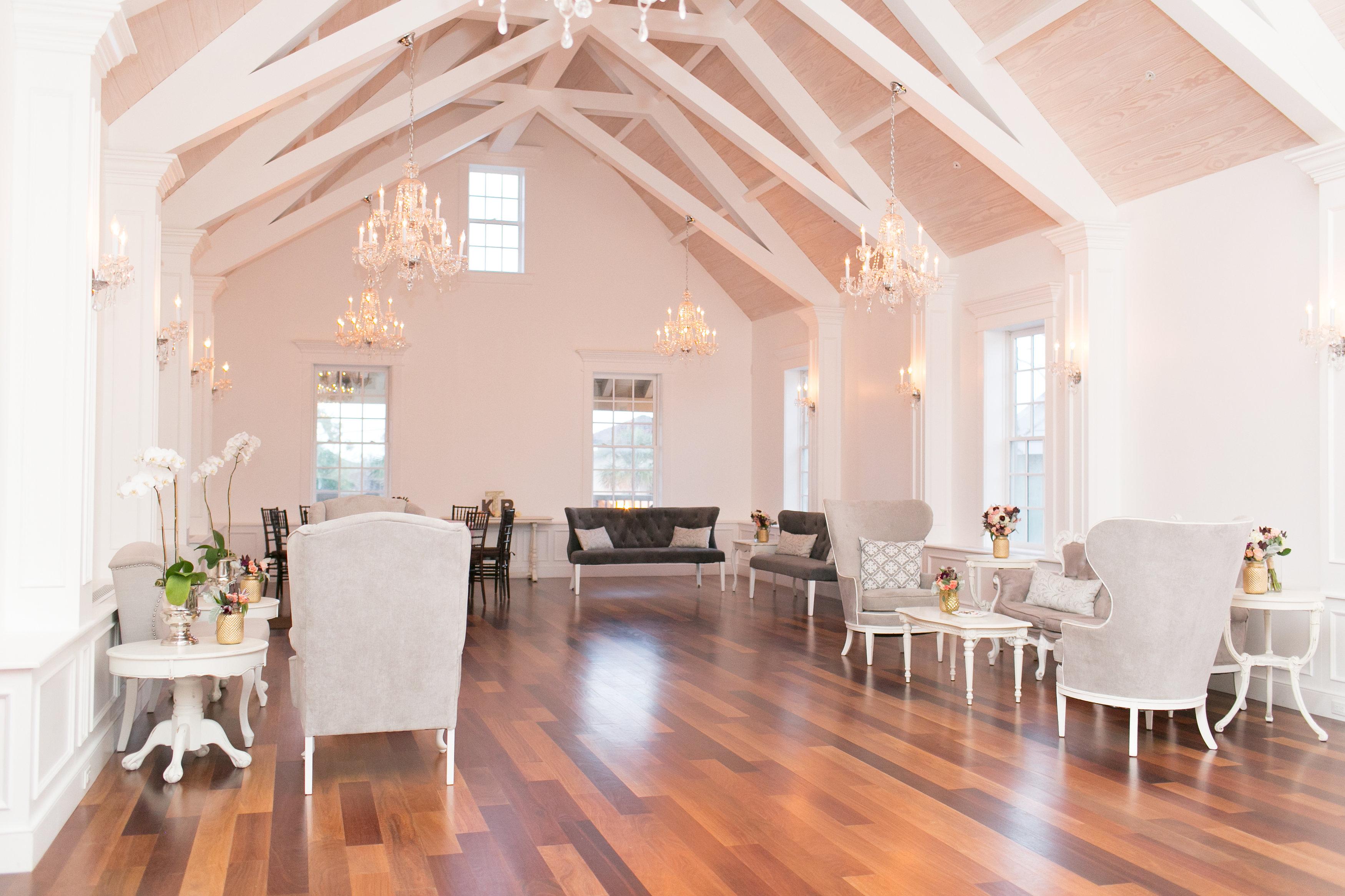 The Villa Blanca Reception on second floor after ceremony