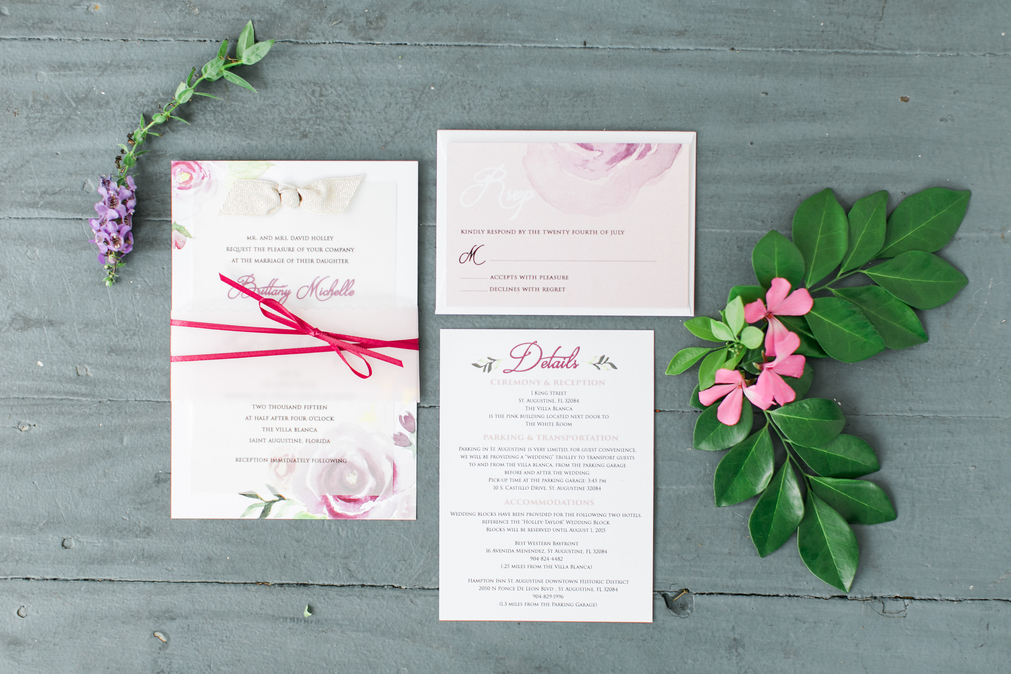 Their invitation perfectly photographed