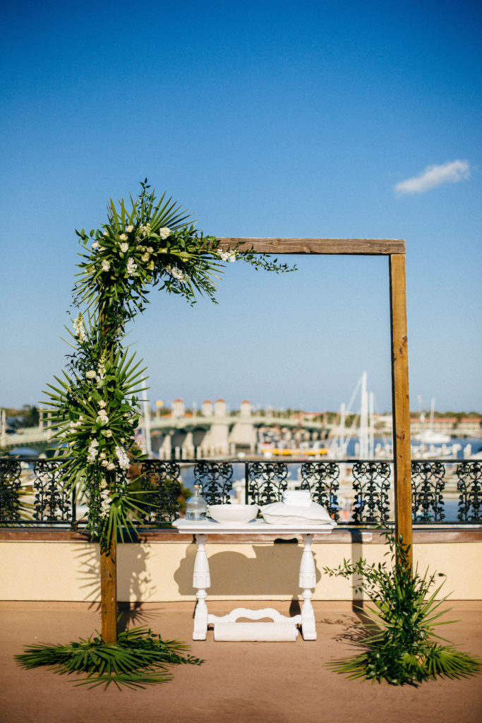 St. Augustine Rooftop Wedding View Altar