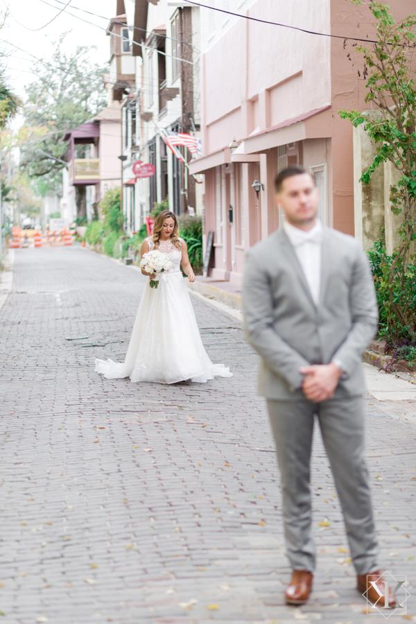 St Augustine Florida Wedding Pre Ceremony First Look