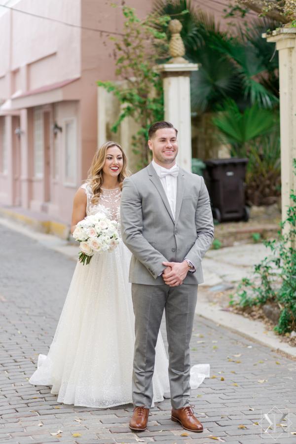 St Augustine Florida Wedding Pre Ceremony First Look 2