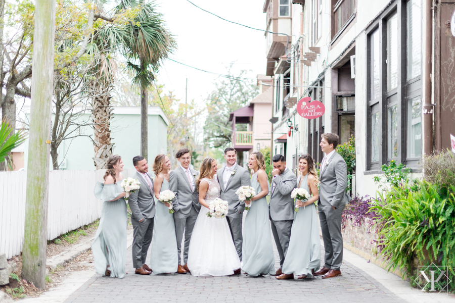 St Augustine Florida Wedding Pre Ceremony Wedding Party