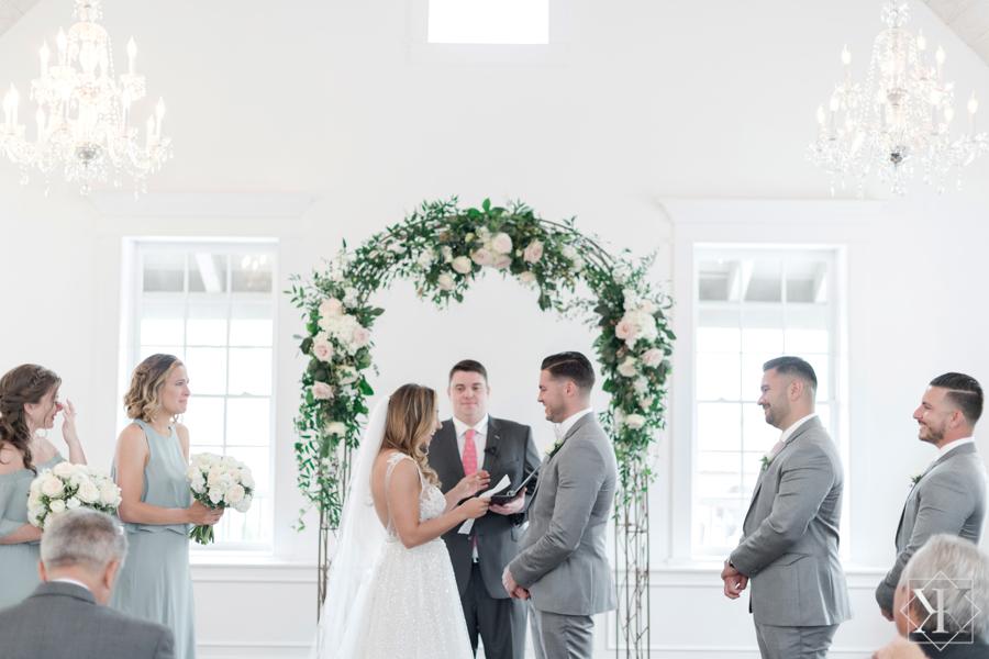 St Augustine Florida Wedding Ceremony Villa Blanca Altar