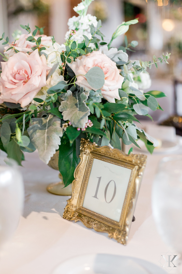 St Augustine Florida Wedding Reception Grand Ballroom Table Detail