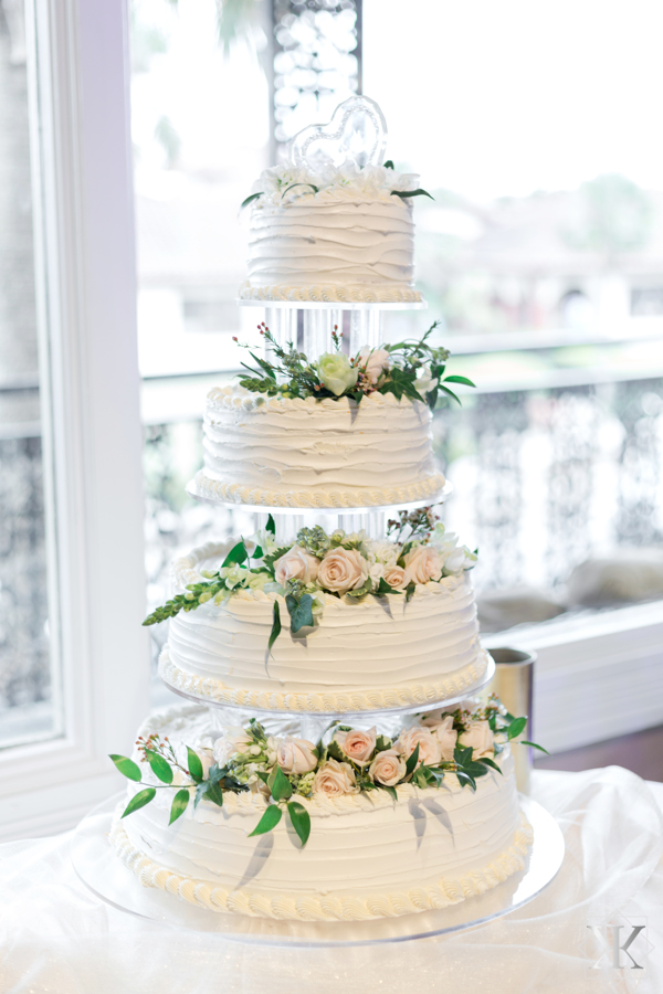 St Augustine Florida Wedding Reception Grand Ballroom Cake