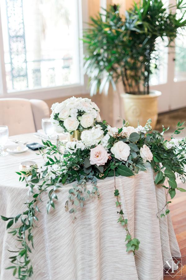 St Augustine Florida Wedding Reception Grand Ballroom Sweetheart Table