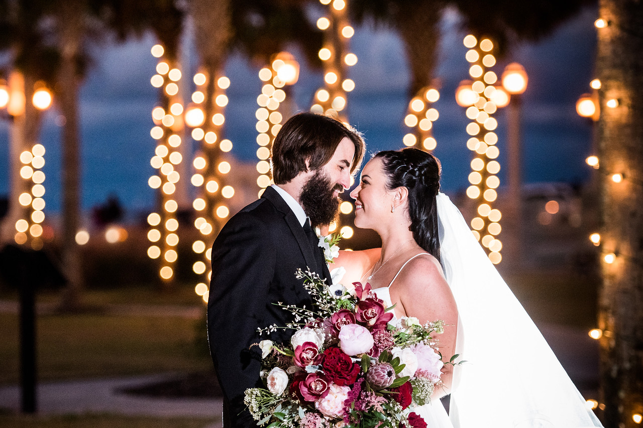 St. Augustine Winter Wedding Outside Portrait